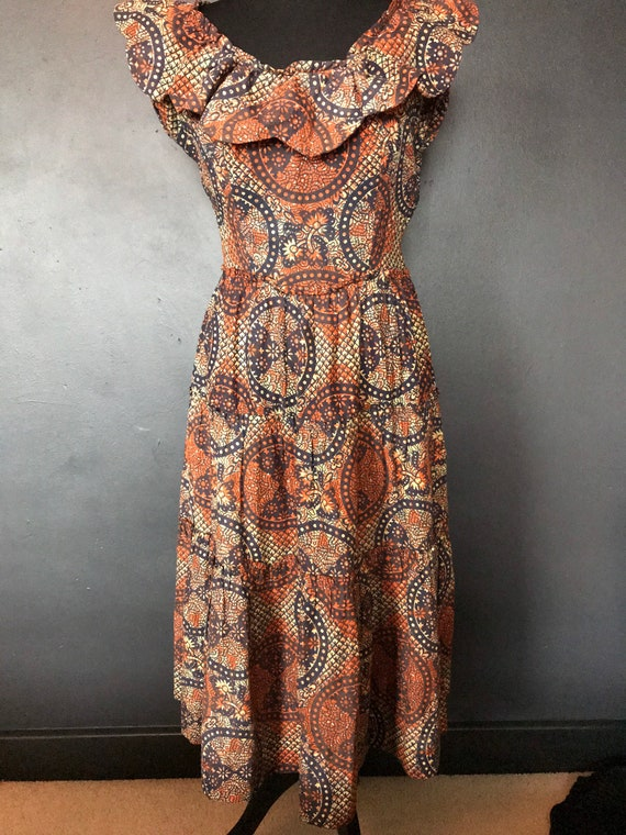 1940s Susan small tiki dress