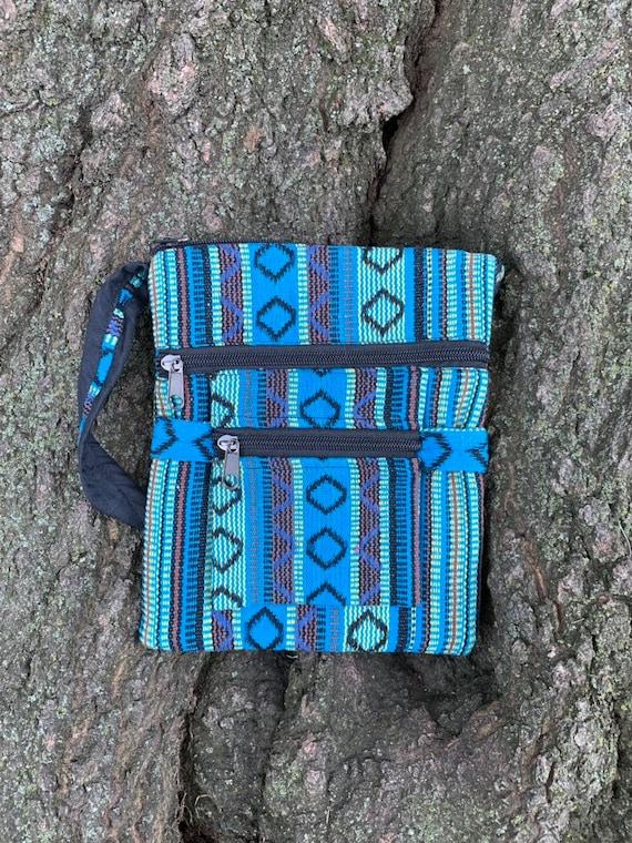 Himalayan woven cotton messenger bag