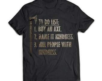 Viking Tshirt Apparel, To Do List Buy An Axe, Front - Next Level Mens Triblend