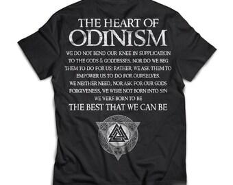 Viking Tshirt, Odinism, back - Next Level Mens Triblend
