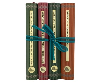 Dracula, Ghost Stories by Dickens, Tales of Mystery and Imagination, Poe, 4 Volumes from the Collector's Library series, Free Shipping