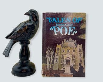 Vintage Edgar Allan Poe, Tales of Edgar Allan Poe, Illustrated by Jerry E. Johnson, 1972, Whitman Publishing, Free Shipping
