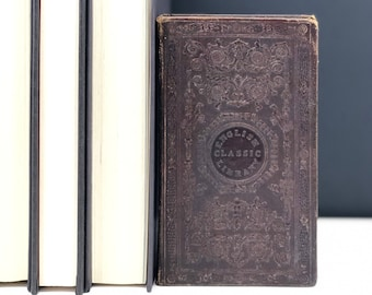Joe Miller's Complete Jest Book: Most Excellent Bon Mots, Brilliant Jests, and Striking Anecdotes, Leather Bound, c. 1839, Free Shipping