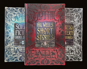 Gothic Fantasy Short Stories, 3 Volumes: H.G. Wells, Science Fiction, and Crime and Mystery, Free Shipping