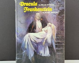 Vintage Dracula and Frankenstein, Jacket Art by Frank Frazetta, Nelson Doubleday, c. 1970, Free Shipping