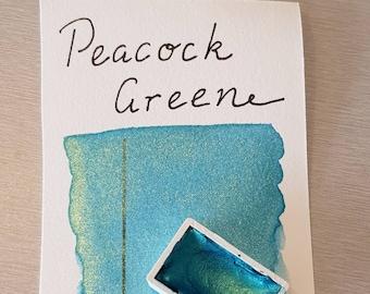 PRE-ORDER Handmade watercolour *watercolor* Paint Peacock Green