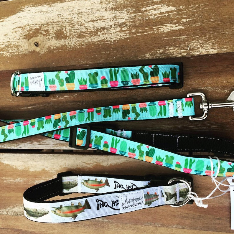 Cactus, or Fish Print Collar