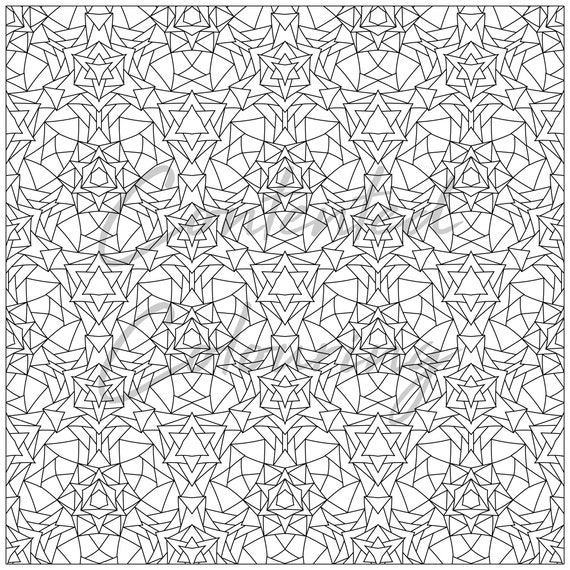 Pattern coloring sheet - adult coloring pages to print hex-6