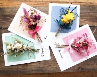 Ready to Ship  Pressed Flower Card  Real Flowers  Laminated