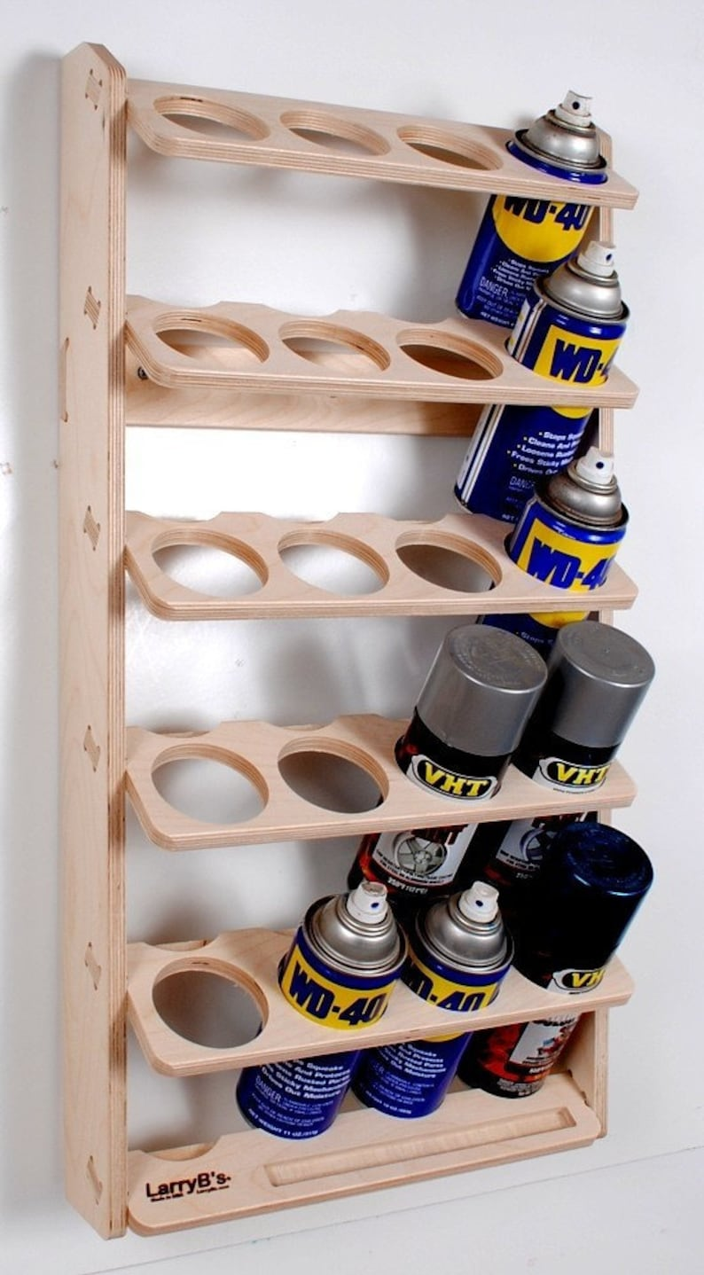 20 Can Spray Paint or Lube Can Wall Mount Storage Holder Rack image 0