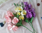 Set of Flowers of Satin R...