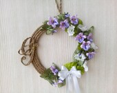 Easter Wreath with Violet...