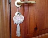 Cream Furniture Tassel, Door Tassel, Tassel with Cream Bow, Furniture Tassel, Handmade Tassel