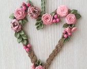 Floral Heart, Heart Wall ...