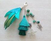 Tassel Key Chain, Keychain, Zipper Pull Ceychain, Handbag Accessories, Bag Charm, Key Tassel Handmade, Handmade Keychain