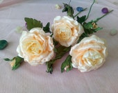 Artificial Ivory Roses, W...