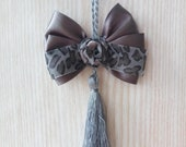 Gray Furniture Tassel with a gray bow, gray tassel on the door