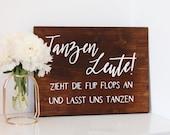 """Wooden sign """"Dancing..."""