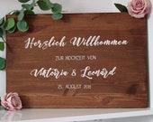 Wooden Welcome sign-Weddi...