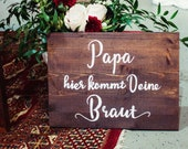 """Wooden sign """"Dad, he..."""