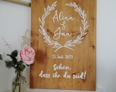 Welcome sign to the weddi...