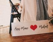 """Wooden sign """"She lov..."""