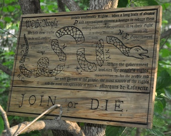 Join Or Die Sign Etsy