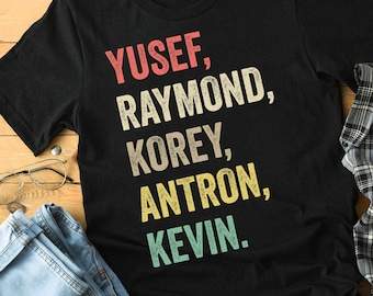4a98f36e9 When They See Us Shirt, Yusef Raymond Korey Antron & Kevin Tshirt - Netflix  T-shirt - korey wise Shirt - Central Park 5 Shirt Movie T-shirt