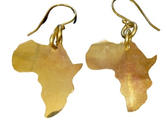 Cioaqpyirow Africa Map Earrings Africa Map Stud Earrings Home Town Love Jewelry Peralized Picture Earrings,HO0E310