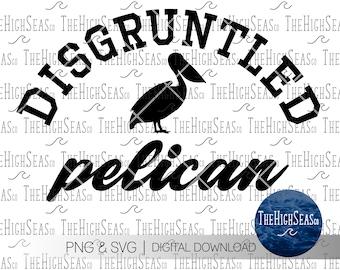 Disgruntled Pelican   Digital Download, Sublimation Design, PNG & SVG file