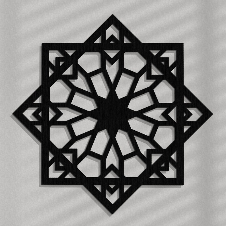 Mur bois élégant 3D art déco STYLE marocain ajouré | Etsy