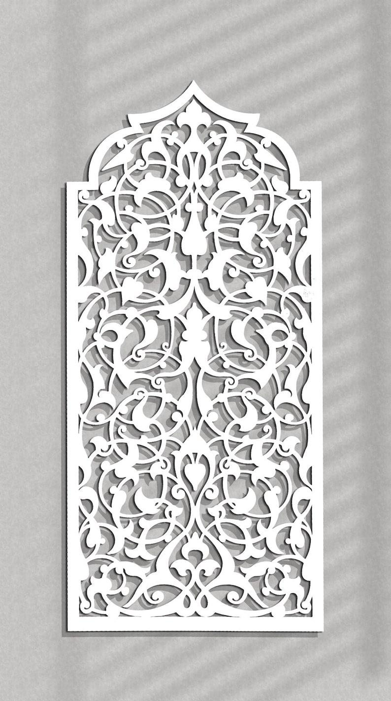 Décoration murale en bois élégant 3D marocain arabe ajouré | Etsy