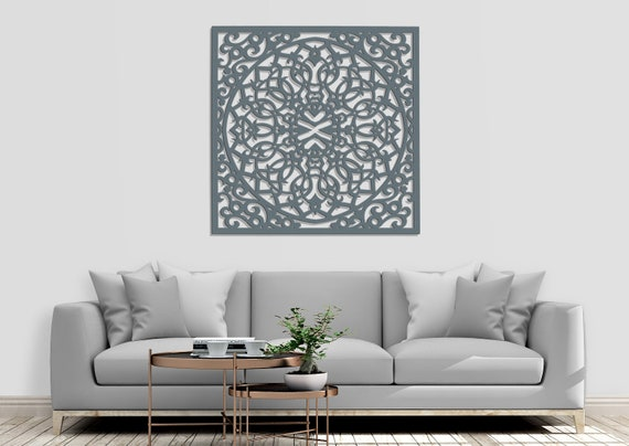 Décor mural bois élégant 3D, décor de mur marocain DESIGN ajouré, image  ornement, salon, panneau décoratif mural en bois, idée cadeau