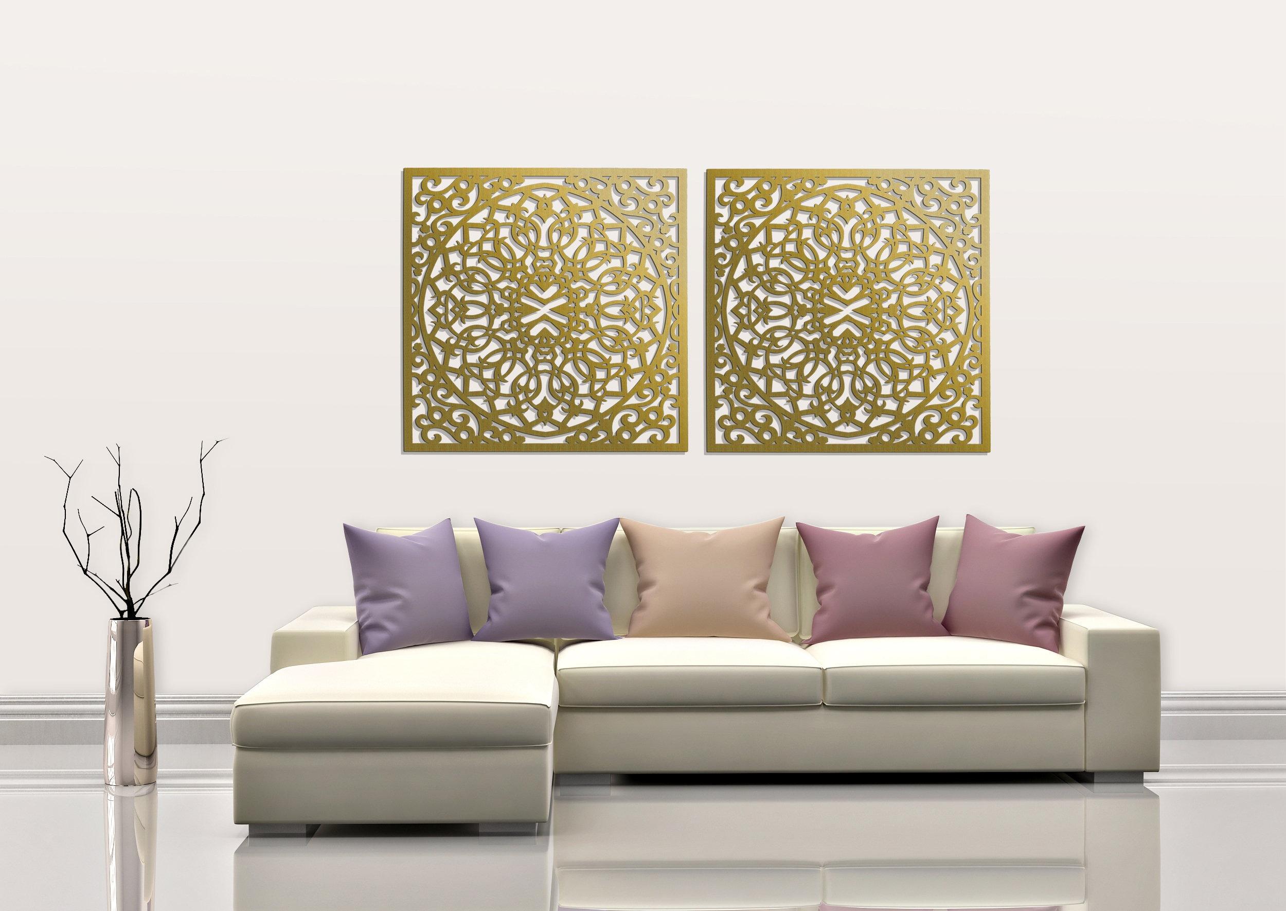 Mur bois élégant 3D art décor panneau de marocain ajouré | Etsy