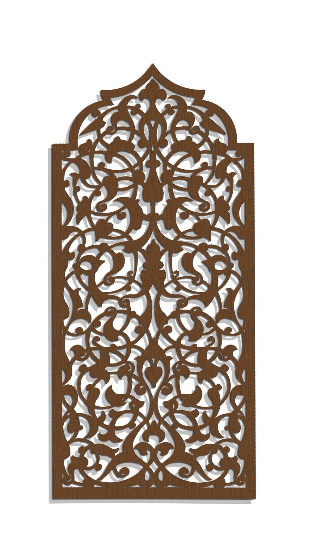 Mur bois élégant 3D art décor marocain arabe ajouré | Etsy