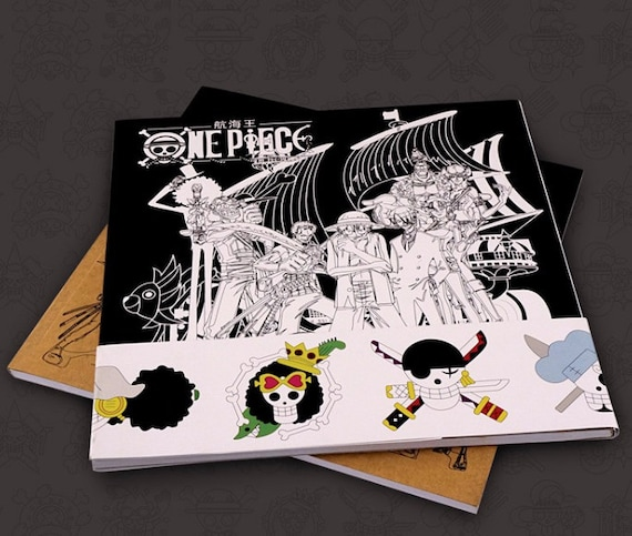 One Piece Anime Coloring Book Etsy