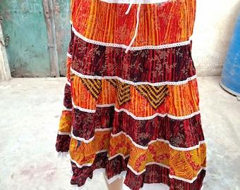 134829aa2f Indian Banjara Skirt Gypsy Bohemain Ethnic Hippie Boho Style Vintage Trible  Traditional Cotton Skirt Beautiful Designer Short Antique Skirt