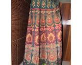 Indian Printed Mandala Ethnic Banjara Women Wrap Skirt Bohemian Skirt Ladies wrap