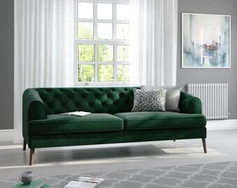 Green sofa | Etsy
