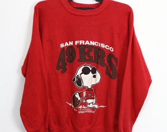Joe Cool Vintage Unisex Groovy Sweater T-shirt Snoopy Peanuts San Francisco  49ers NFL American Football Sport Collectable 50 50 16661eb22