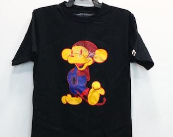 800711eb2 Vintage A Bathing Ape Mickey Mouse Logo Bape x Kaws Shirt Vtg Bape Head  Camo Big Logo Medium Size M Japan Made