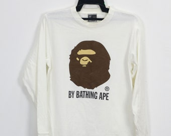 9899f79d9 Vintage A Bathing Ape Camouflage Logo Bape x Kaws Shirt Vtg Bape Head Camo  Big Logo Large Size Small S