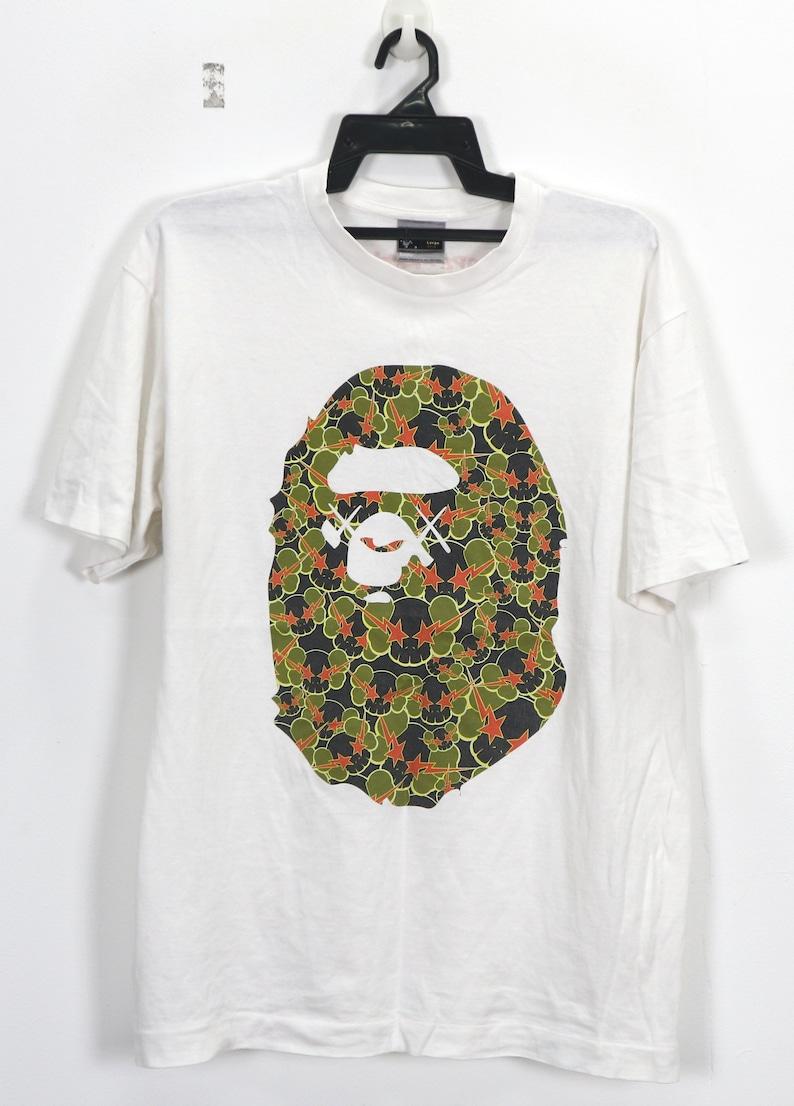 e4e16758 Vintage A Bathing Ape T-Shirt Bape x Kaws Limited Edition Vtg   Etsy