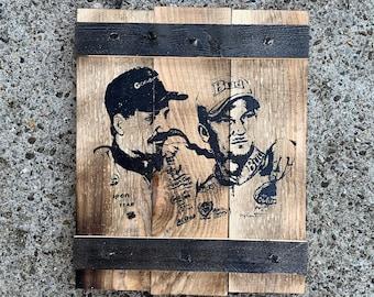 NASCAR - Earnhardt Crate Sign - Dale Earnhardt Jr and Sr Rustic Wooden Sign