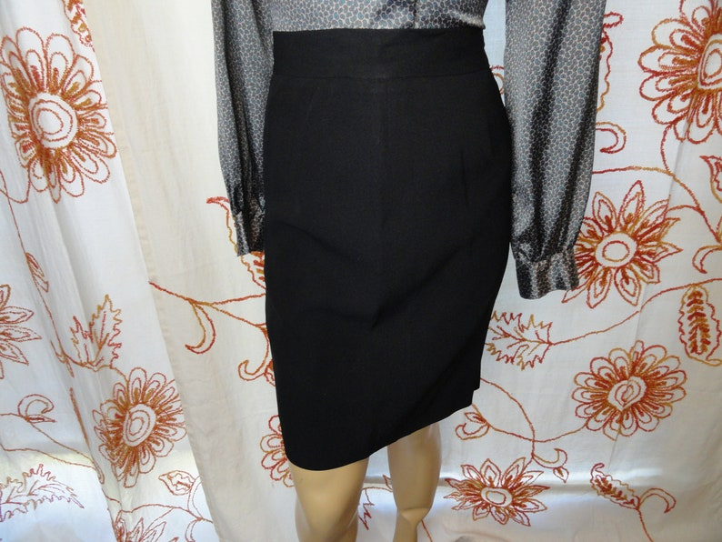 46b142988d Vintage Cheap and Chic by Moschino Black Knee Length Pencil | Etsy