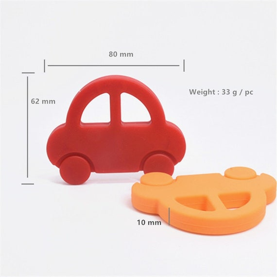 Baby Hedgehog Shape Baby Ring Silicone Beads Teething Ring Toy DIY Chain Hot