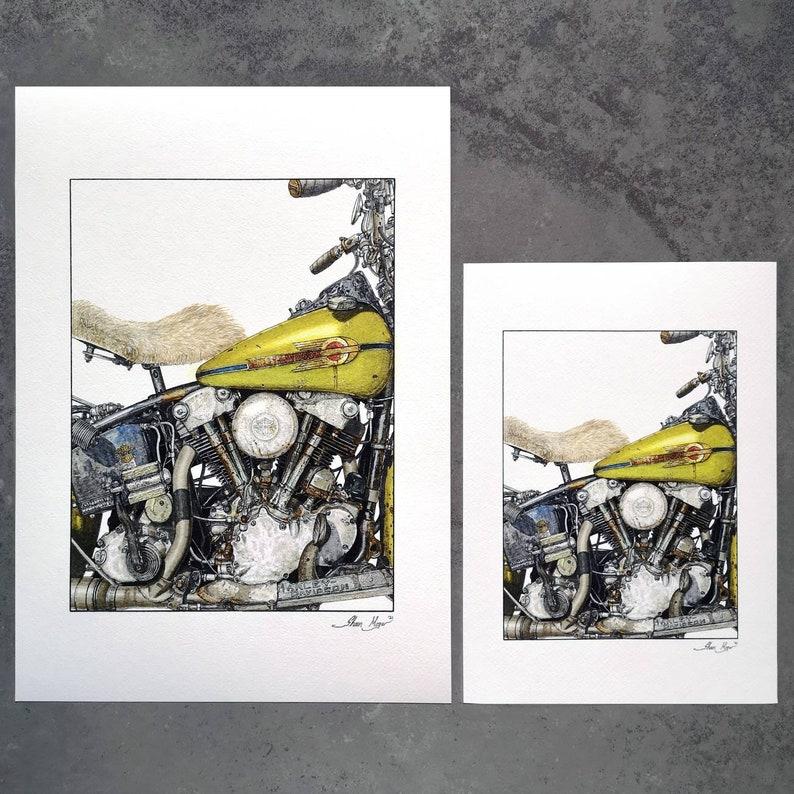 Harley Davidson Knucklehead Art Prints Limited Edition image 0