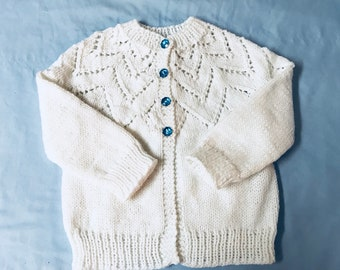 80f406209 Knitted baby sweater