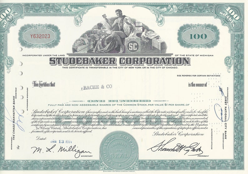 Stock Certificate Coty Inc