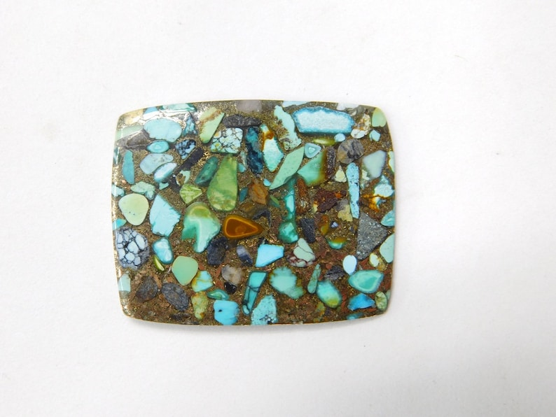 Gorgeous A-3046 Copper Turquoise Cabochon Handmade Copper Turquoise Loose Stone For Jewelry 20 Cts Natural Copper Turquoise Gemstone